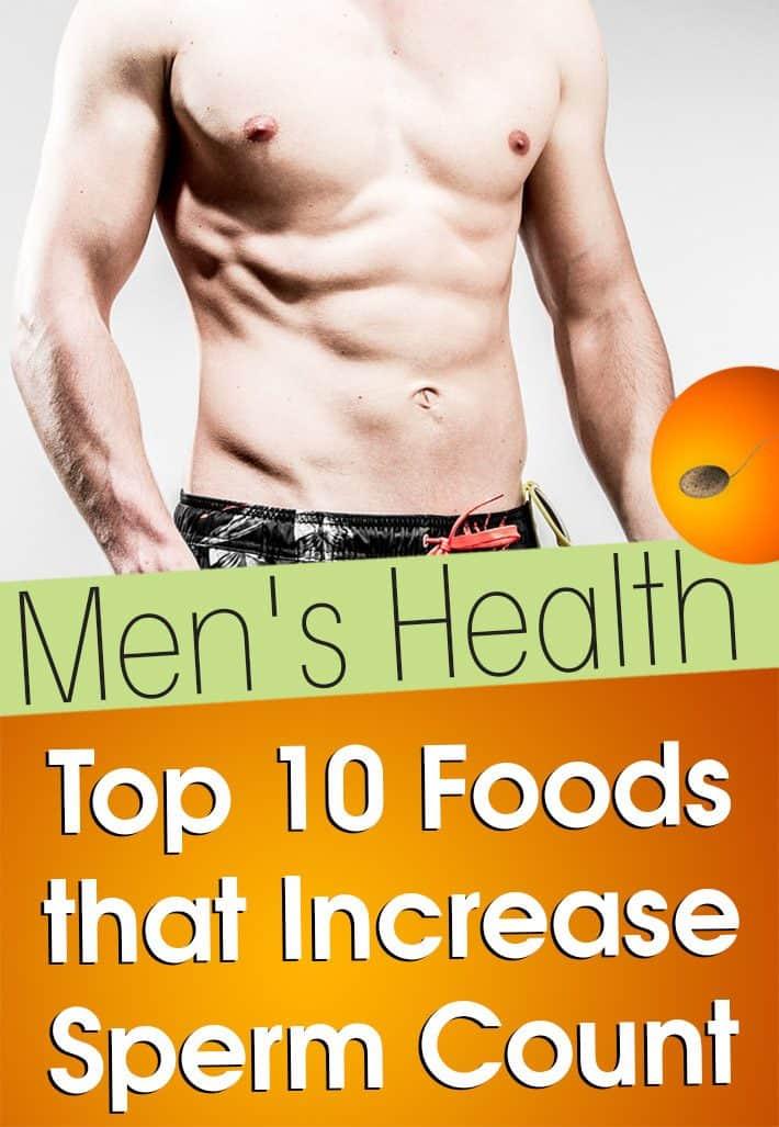 Men's Health: Top 10 Foods That Increase Sperm Count