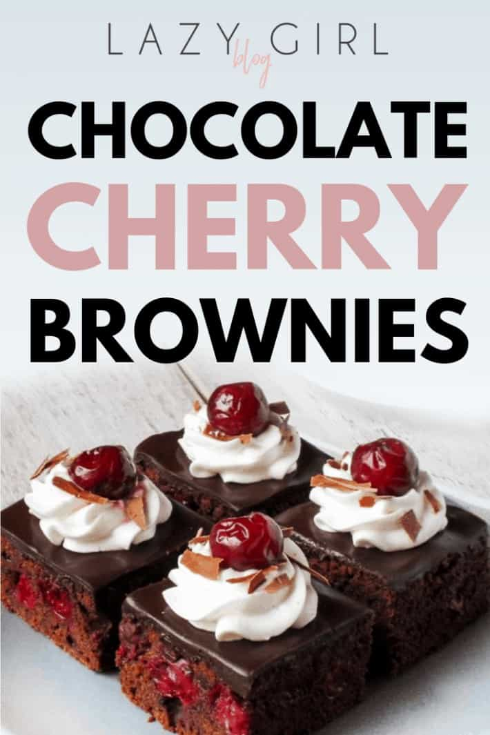Easy To Make Chocolate Cherry Brownies