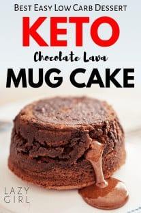 Chocolate Keto Lava Mug Cake Recipe