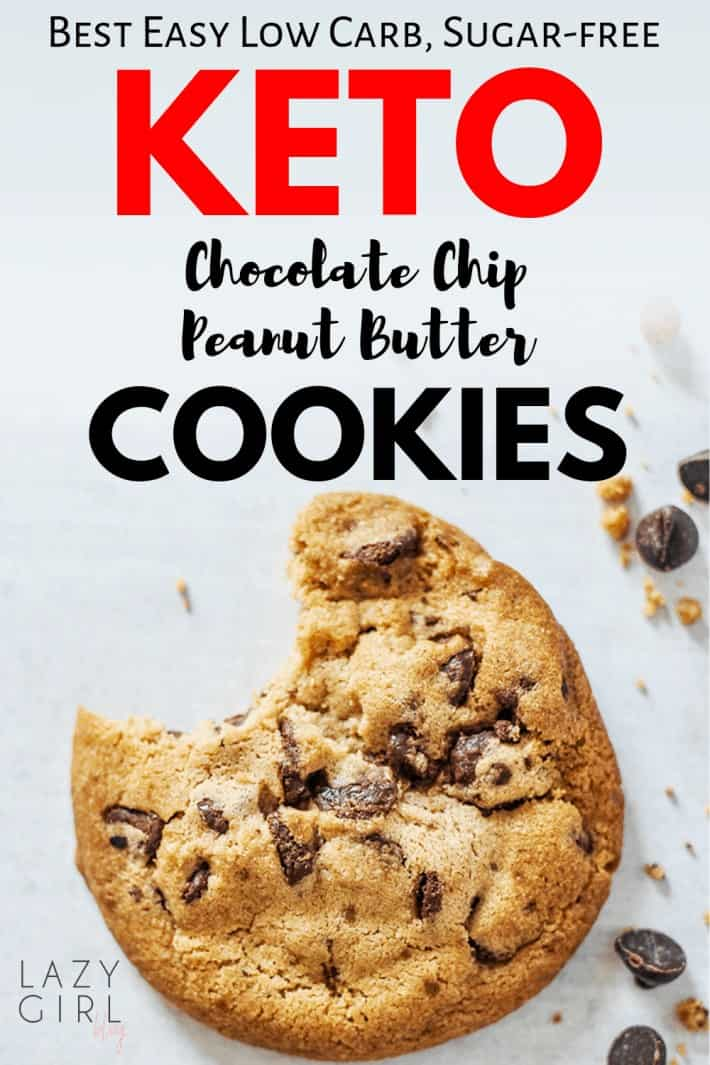 Easy Low Carb Keto Chocolate Chip Peanut Butter Cookies