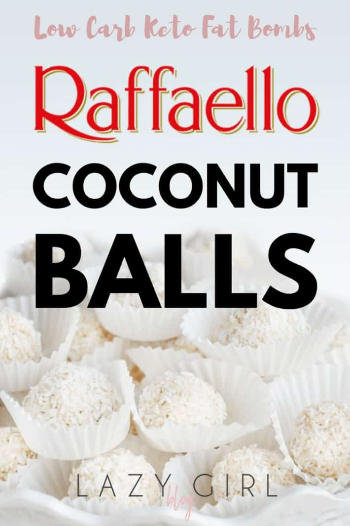 Low Carb Keto Fat Bombs – Raffaello Coconut Balls