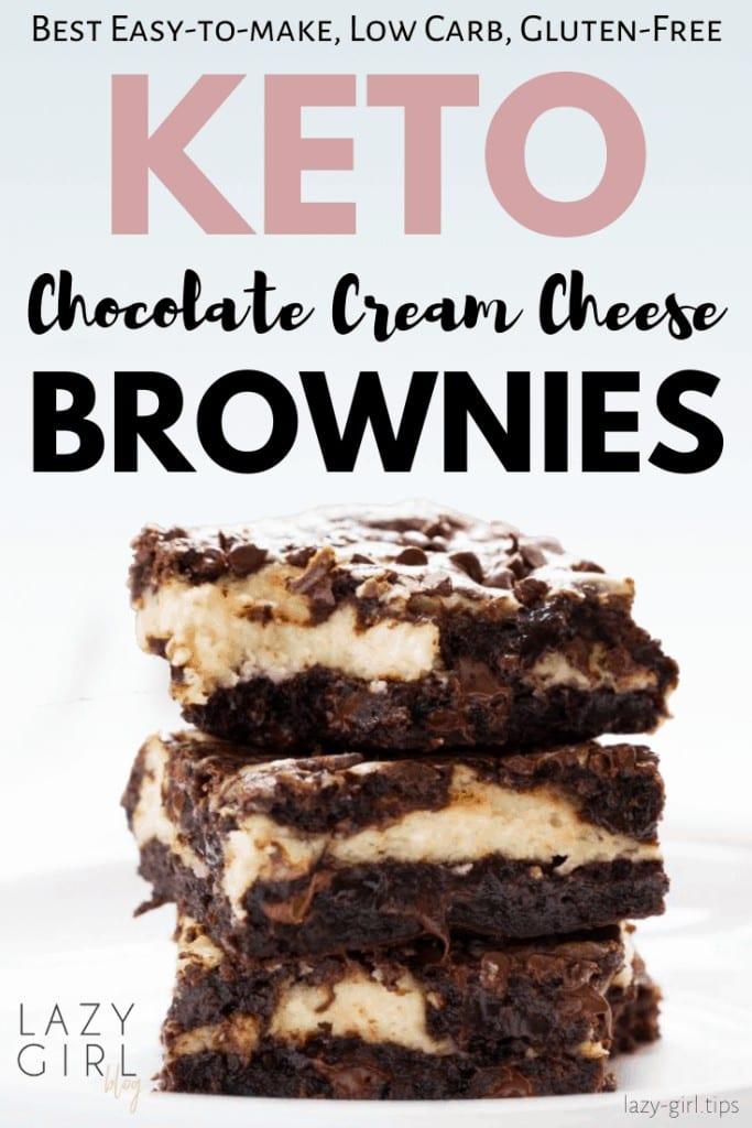 Best Keto Chocolate Cream Cheese Brownies
