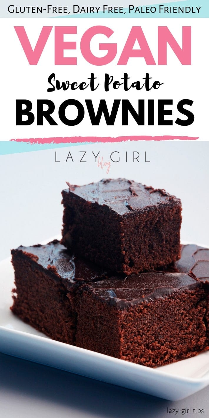Easy Paleo Vegan Sweet Potato Brownies