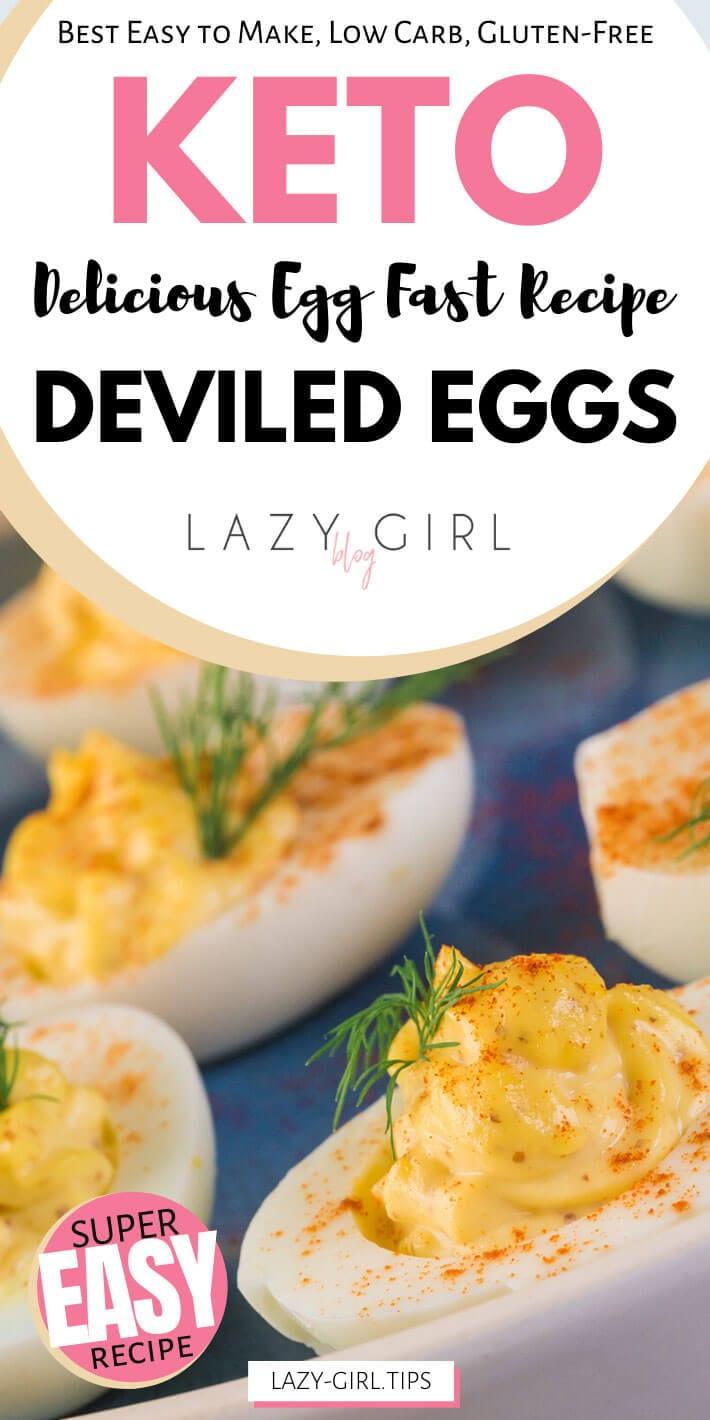 Best Keto Egg Fast Deviled Eggs
