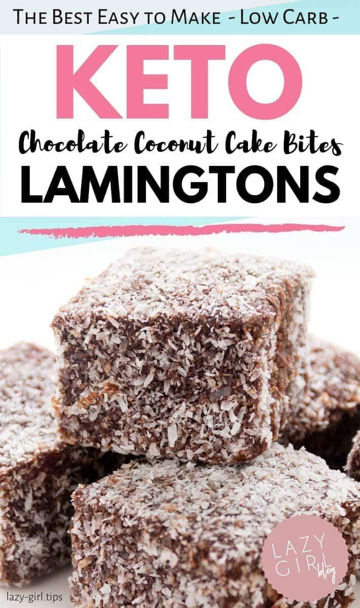Keto Lamingtons – Best Low Carb Chocolate Coconut Bites