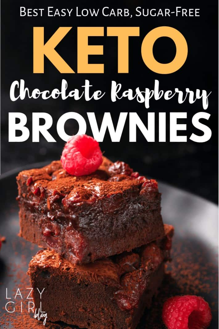 Best Keto Brownie – Low Carb Chocolate Raspberry Brownies Recipe