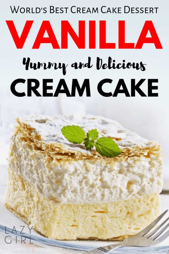 Best Vanilla Cream Cake Dessert Recipe