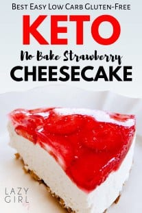 Best Keto Strawberry Cheesecake