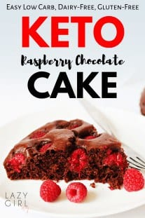 Keto Raspberry Chocolate Cake