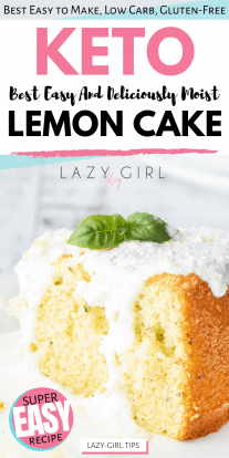 Easy Keto Lemon Cake