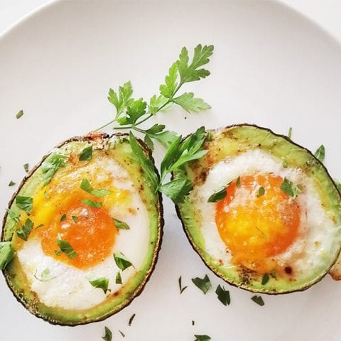 Baked Avocado Eggs Keto Breakfast