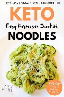 best low carb keto parmesan zucchini noodles