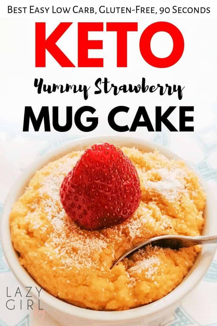 Easy Low Carb Keto Strawberry Mug Cake