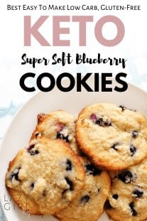 Keto Blueberry Cookies – Best Low Carb Super Soft Cookies
