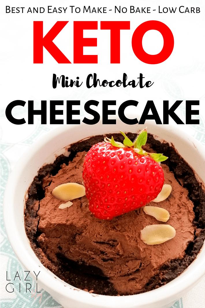 No Bake Keto Mini Chocolate Cheesecake