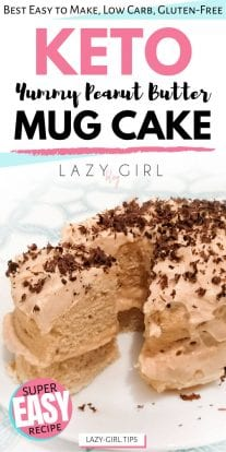 1 Minute Keto Peanut Butter Mug Cake