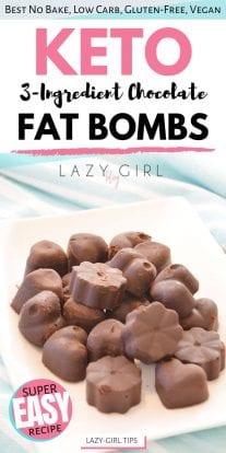 3-Ingredient Chocolate Keto Fat Bombs