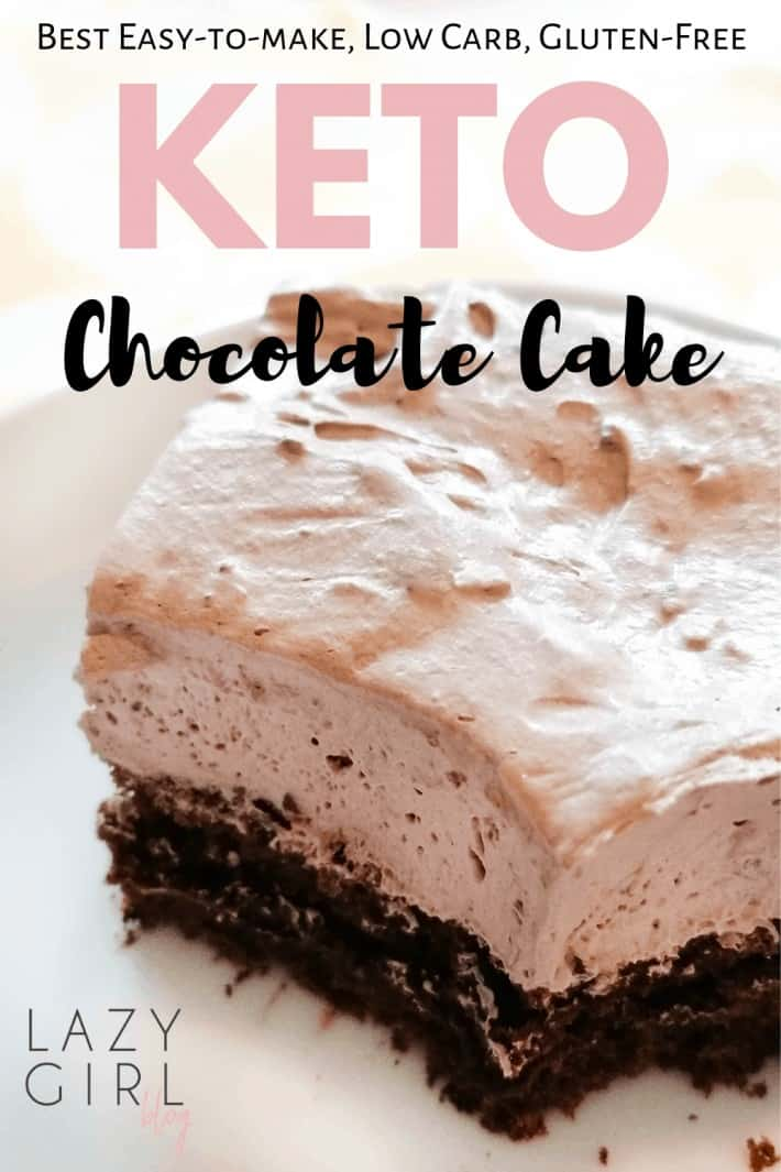 Keto Chocolate Cake with Whipped Cream Icing