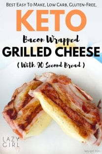 Best Low Carb Keto Bacon Wrapped Grilled Cheese