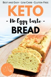 "If you miss bread, try this super simple recipe out! This is the only Keto bread recipe you'll ever need. This one is pretty close to the ""real"" thing even with the eggs..."