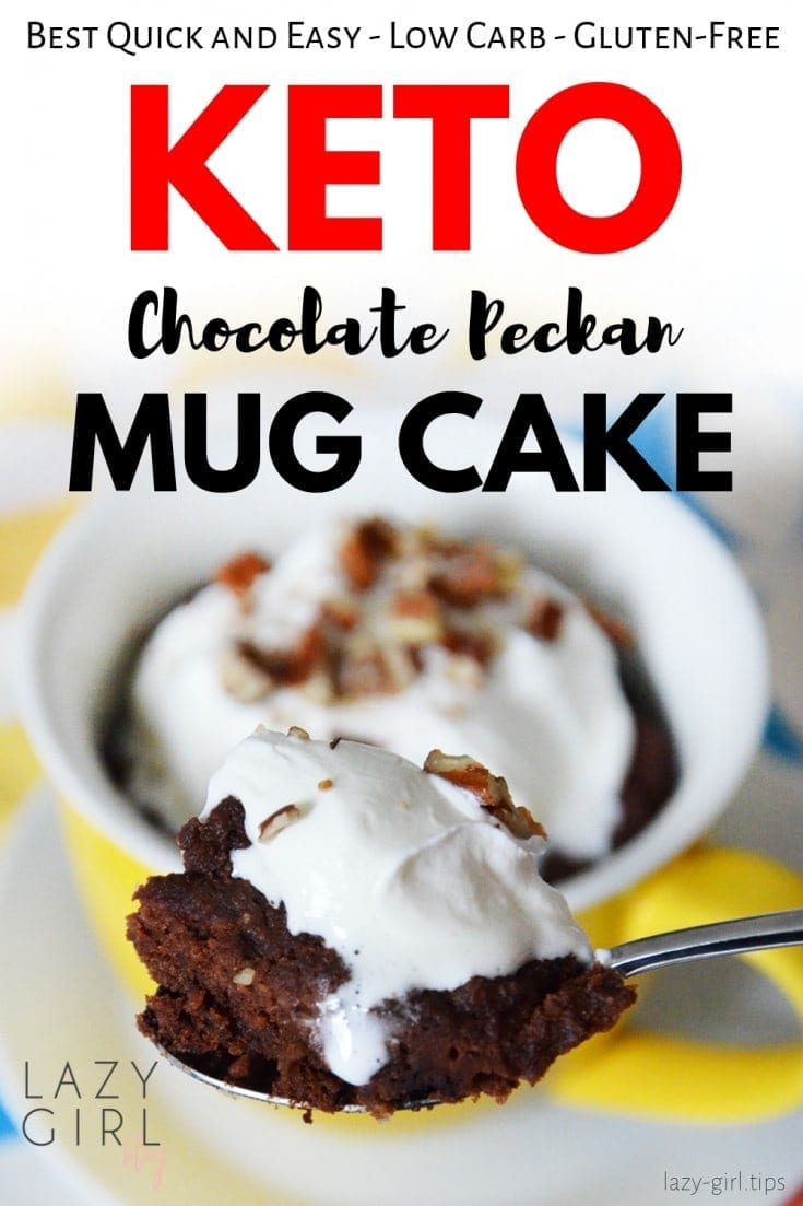 Easy Keto Chocolate Pecan Mug Cake For Two - Low Carb - Gluten Free