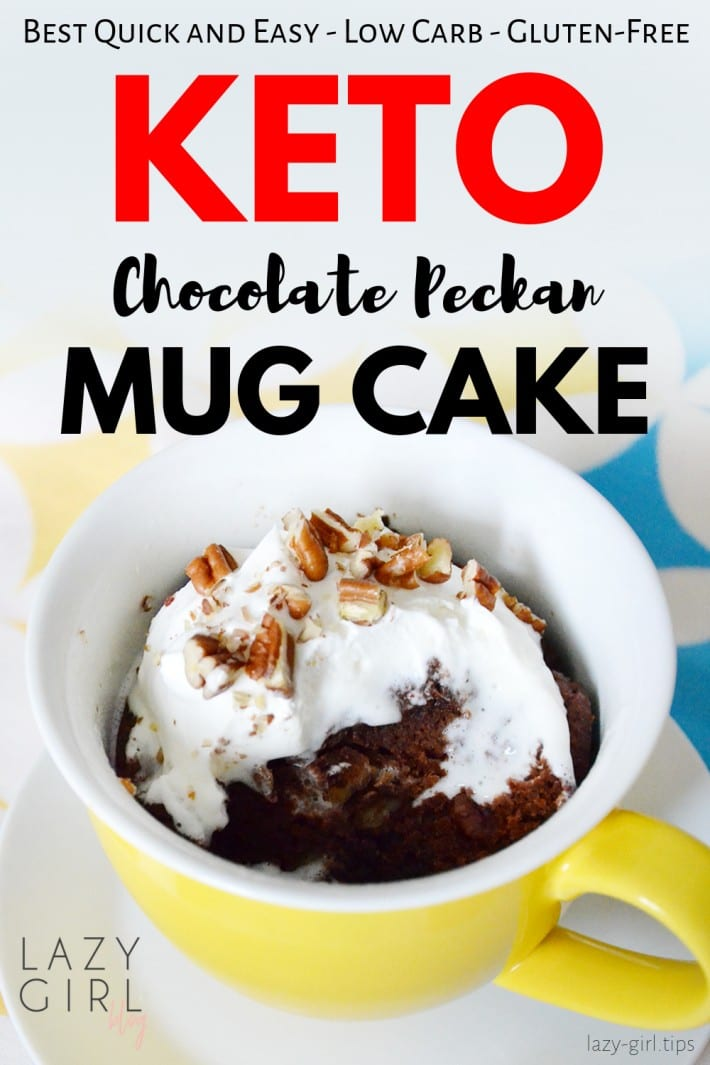 Easy Keto Chocolate Pecan Mug Cake For Two