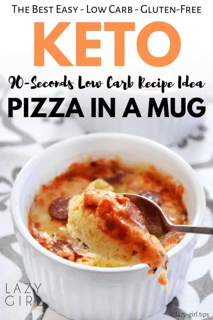 90-Seconds Keto Pizza In A Mug – Easy Low Carb Recipe Idea