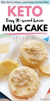 Easy 90-second Keto Lemon Mug Cake