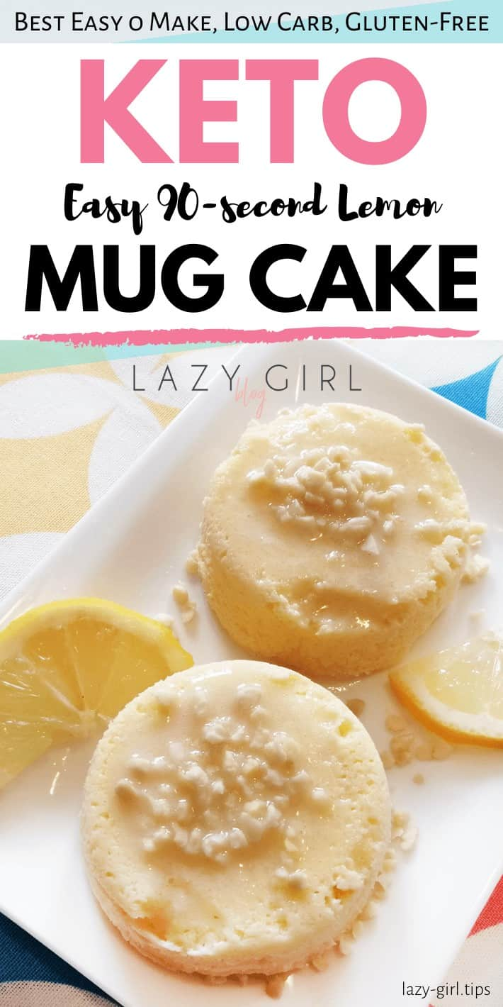 Easy 90-second Keto Lemon Mug Cake