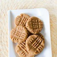 3-Ingredient Keto Peanut Butter Cookies Recipe