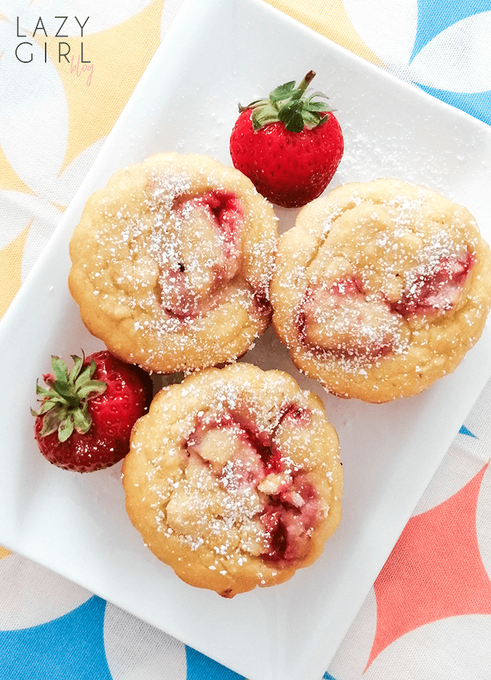 Keto Coconut Strawberry Muffins