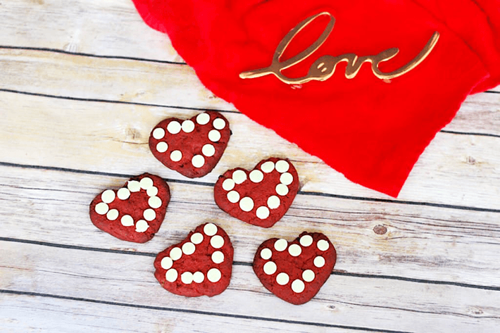 Heart Keto Red Velvet Cookies