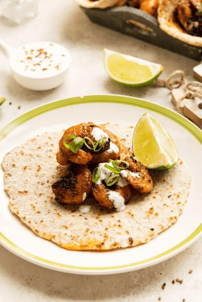 Keto Blackened Shrimp Tacos recipe.