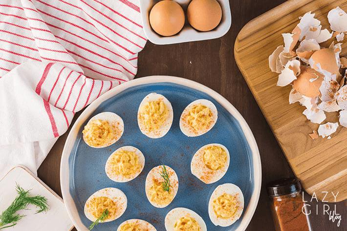 Keto Deviled Eggs recipe.