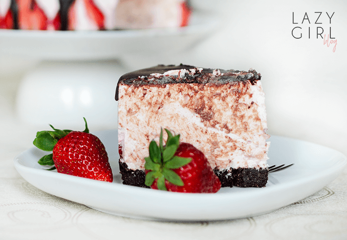 No Bake Low Carb Chocolate Covered Strawberry Cheesecake recipe.