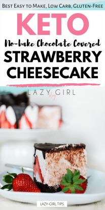 No Bake Low Carb Chocolate Covered Strawberry Cheesecake picture